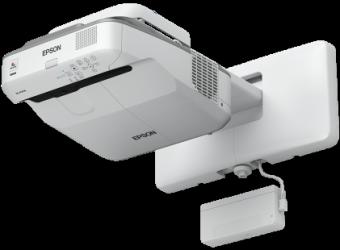Epson EB-695Wi - Projecteur 3LCD - 3500 lumens (blanc) - 3500 lumens (couleur) - WXGA (1280 x 800) - 16:10 - 720p - LAN - gris, blanc