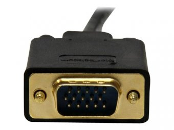 StarTech.com Adaptateur Mini DisplayPort vers VGA - Câble Actif Vidéo Display Port Mâle vers VGA Mâle pour Apple Mac ou PC - Noir 91cm - Convertisseur vidéo - VGA - DisplayPort - noir