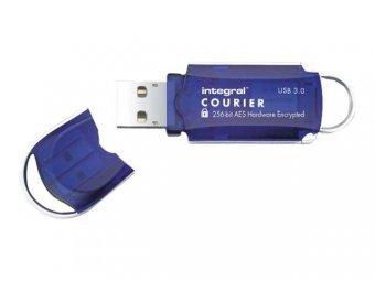 Integral Courier FIPS 197 Encrypted USB 3.0 - Clé USB - chiffré - 16 Go - USB 3.0