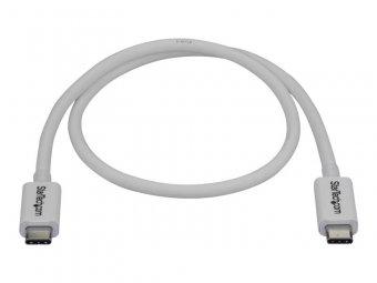 StarTech.com Câble Thunderbolt 3 de 50 cm - 40 Gb/s - Compatible Thunderbolt, USB et DisplayPort - Blanc (TBLT34MM50CW) - Câble Thunderbolt - USB-C (M) pour USB-C (M) - USB 3.1 Gen 2 / Thunderbolt 3 / DisplayPort 1.2 - 50 cm - support 4K - blanc - pour P/