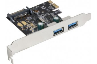 DEXLAN Carte PCI-Express 2 ports USB 3.0 5GBPS +LowProf