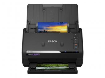 Epson FastFoto FF-680W - Scanner de documents - Capteur d'images de contact (CIS) - Recto-verso - A4 - 600 dpi x 600 dpi - jusqu'à 45 ppm (mono) / jusqu'à 45 ppm (couleur) - Chargeur automatique de documents (100 feuilles) - USB 3.0, Wi-Fi(n)