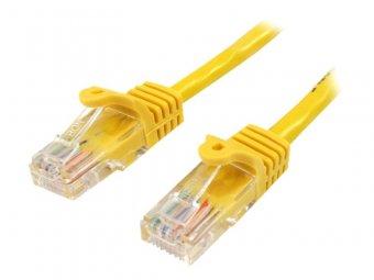StarTech.com Câble réseau Cat5e UTP sans crochet de 1 m - Cordon Ethernet RJ45 anti-accroc - Câble patch - M/M - Jaune - Cordon de raccordement - RJ-45 (M) pour RJ-45 (M) - 1 m - UTP - CAT 5e - sans crochet - jaune