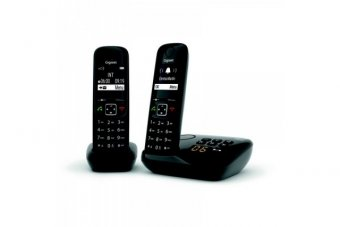 Gigaset AS690A DUO tél.DECT + REP - base + 2 combinés noirs