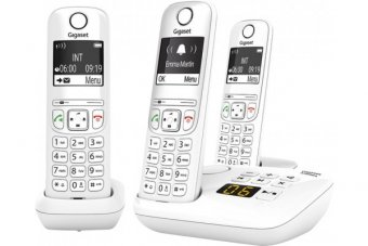 Gigaset AS690A TRIO tél. DECT+ REP - base +3 combinés blancs