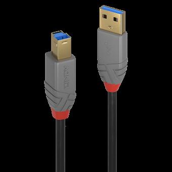 Lindy Câble USB 3.2 Type A vers B, 5Gbit/s, Anthra Line, 0.5m