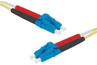 Jarretière optique duplex monomode OS2 9/125 LC-UPC/LC-UPC jaune - 2 m