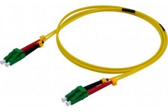 Jarretière duplex 2.0 mm OS2 LC-APC/LC-APC jaune - 10 m