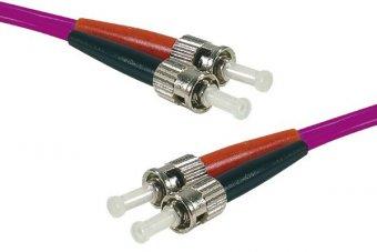 Jarretière optique duplex multimode OM4 50/125 ST-UPC/ST-UPC erika - 1 m