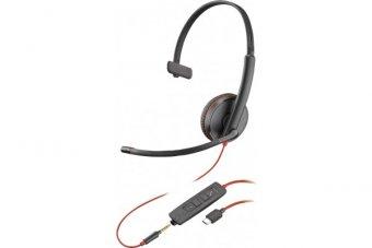 POLY Blackwire C3215 bulk casque USB-C+Jack -1 écout.