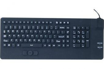 Clavier avec trackpad en silicone rigide étanche USB noir