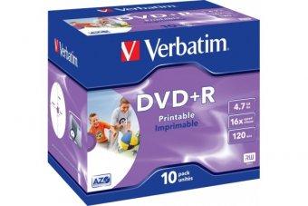 VERBATIM Pack de 10 DVD+R 4.7GB 16x (43508)
